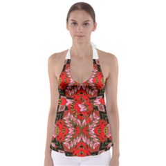 Art Digital (19)gfhhkhi99kkyjy[ [ Babydoll Tankini Top