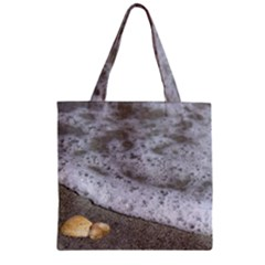 Seashells In The Waves Zipper Grocery Tote Bag