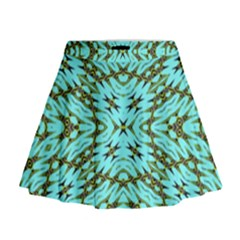 Fake Sky Night Mini Flare Skirt