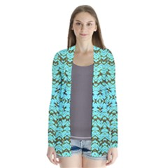 Fake Sky Night Drape Collar Cardigan