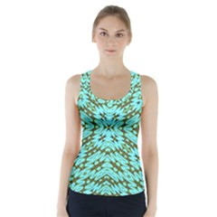 Fake Sky Night Racer Back Sports Top
