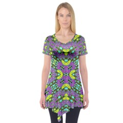 Violet Violin Short Sleeve Tunic