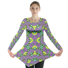 Violet Violin Long Sleeve Tunic