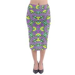 Violet Violin Midi Pencil Skirt