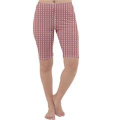 Mod Pink Green Pattern Cropped Leggings