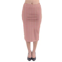 Mod Pink Green Pattern Midi Pencil Skirt