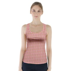 Mod Pink Green Pattern Racer Back Sports Top