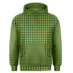 Mod Green Orange Pattern Men s Pullover Hoodie