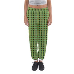 Mod Green Orange Pattern Women s Jogger Sweatpants
