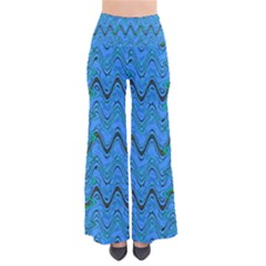 Blue Wavy Squiggles Pants