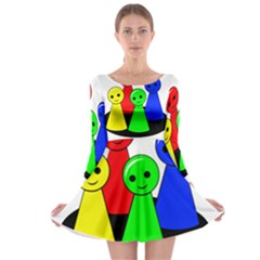 Don t get angry Long Sleeve Skater Dress