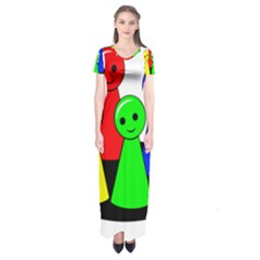Don t get angry Short Sleeve Maxi Dress