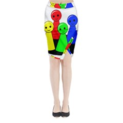 Don t get angry Midi Wrap Pencil Skirt