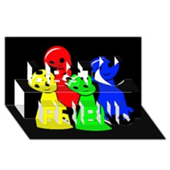 Don t get angry Best Friends 3D Greeting Card (8x4)