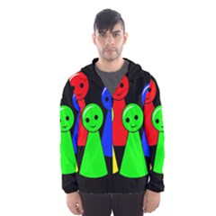 Don t get angry Hooded Wind Breaker (Men)