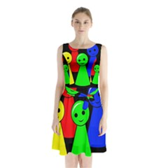 Don t get angry Sleeveless Waist Tie Dress