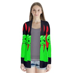 Don t get angry Drape Collar Cardigan