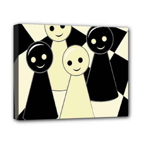 Chess pieces Canvas 10  x 8