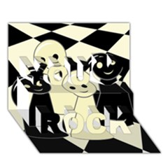 Chess pieces You Rock 3D Greeting Card (7x5)