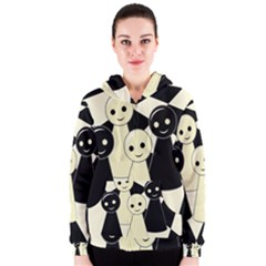 Chess pieces Women s Zipper Hoodie