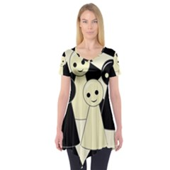 Chess pieces Short Sleeve Tunic
