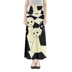 Chess pieces Maxi Skirts