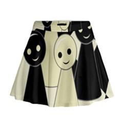 Chess pieces Mini Flare Skirt