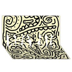 Artistic Abstraction Best Sis 3d Greeting Card (8x4)