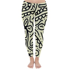 Artistic abstraction Winter Leggings