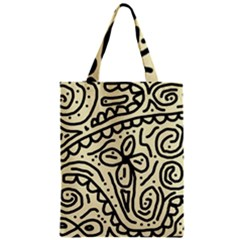 Artistic abstraction Zipper Classic Tote Bag