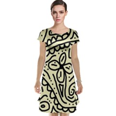 Artistic abstraction Cap Sleeve Nightdress
