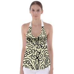 Artistic abstraction Babydoll Tankini Top