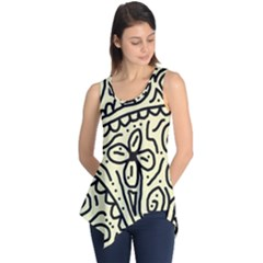 Artistic Abstraction Sleeveless Tunic