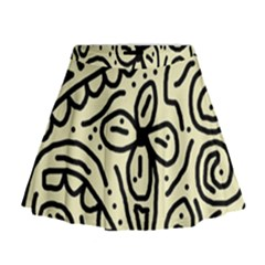 Artistic abstraction Mini Flare Skirt