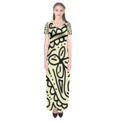 Artistic abstraction Short Sleeve Maxi Dress