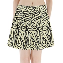 Artistic abstraction Pleated Mini Mesh Skirt