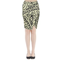 Artistic Abstraction Midi Wrap Pencil Skirt