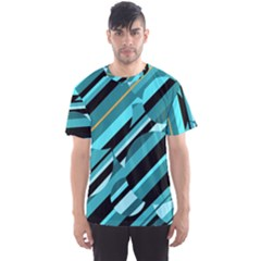 Blue abstraction Men s Sport Mesh Tee