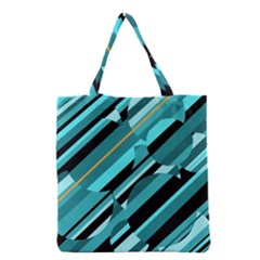 Blue Abstraction Grocery Tote Bag