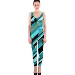 Blue abstraction OnePiece Catsuit