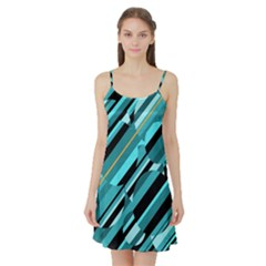 Blue abstraction Satin Night Slip