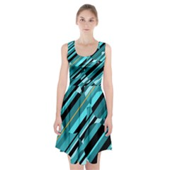 Blue Abstraction Racerback Midi Dress