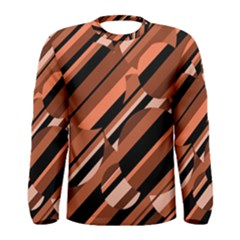 Orange pattern Men s Long Sleeve Tee