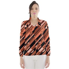 Orange pattern Wind Breaker (Women)