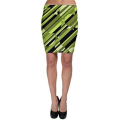 Green pattern Bodycon Skirt