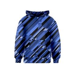 Blue pattern Kids  Pullover Hoodie