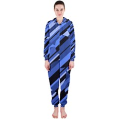 Blue pattern Hooded Jumpsuit (Ladies)