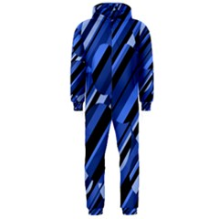 Blue pattern Hooded Jumpsuit (Men)