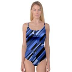 Blue pattern Camisole Leotard