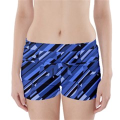 Blue pattern Boyleg Bikini Wrap Bottoms